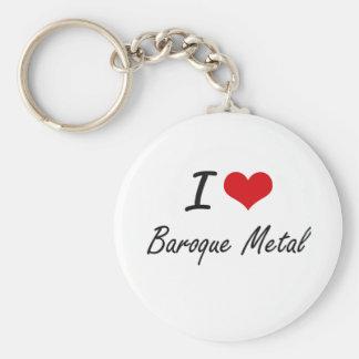 I Love BAROQUE METAL Basic Round Button Key Ring