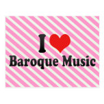 I Love Baroque Music Postcard