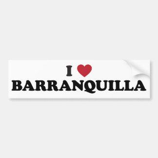 I Love Barranquilla Colombia Bumper Sticker