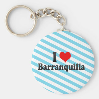I Love Barranquilla, Colombia Key Ring