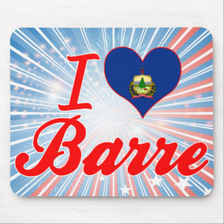 I Love Barre, Vermont Mouse Pad
