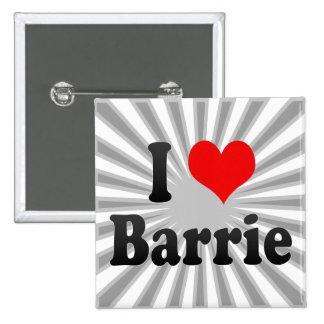 I Love Barrie, Canada. I Love Barrie, Canada 15 Cm Square Badge