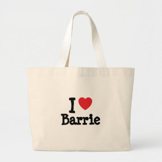 I love Barrie heart T-Shirt Canvas Bags