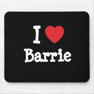 I love Barrie heart T-Shirt Mouse Pad