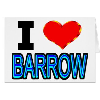I Love Barrow Alaska Card