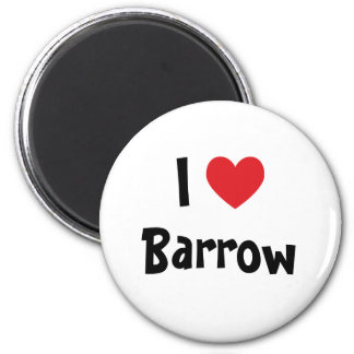 I Love Barrow 6 Cm Round Magnet