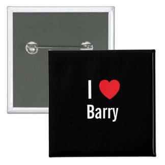 I love Barry 15 Cm Square Badge