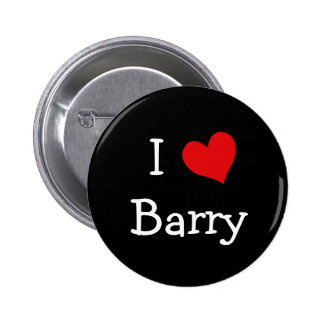 I Love Barry 6 Cm Round Badge