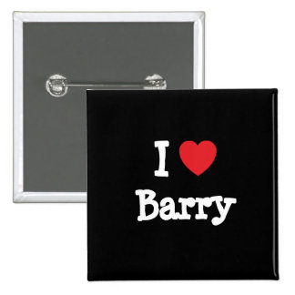 I love Barry heart custom personalized Pins