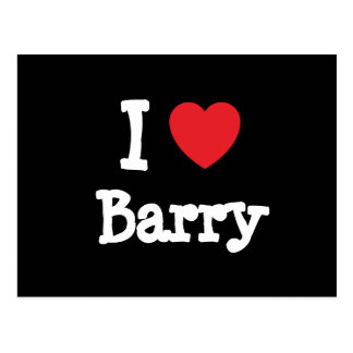 I love Barry heart custom personalized Postcards