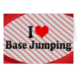 I love Base Jumping Note Card