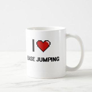 I Love Base Jumping Digital Retro Design Classic White Coffee Mug