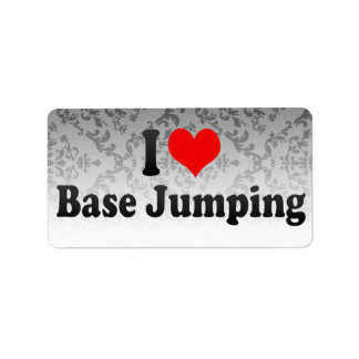 I love Base Jumping Address Label
