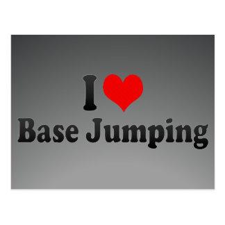 I love Base Jumping Postcard