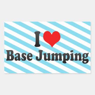 I love Base Jumping Rectangular Sticker