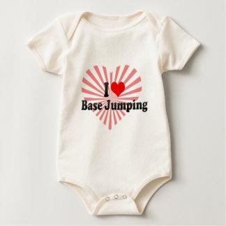 I love Base Jumping Baby Bodysuit