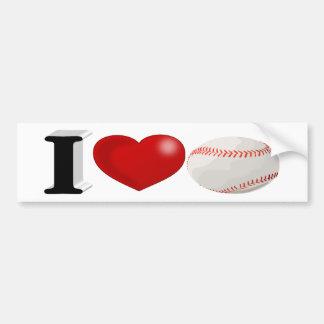 I Love Baseball 3D Bumper Sticker