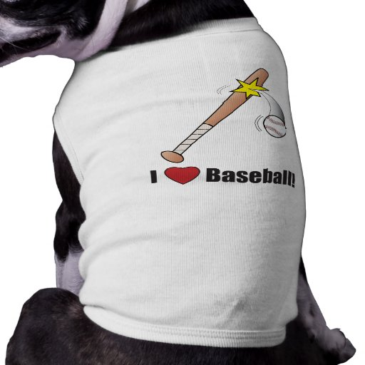I Love Baseball!: Baseball Bat Hitting Ball Pet Shirt