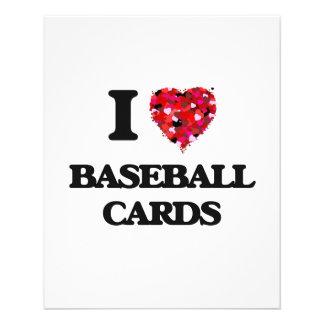 I Love Baseball Cards 11.5 Cm X 14 Cm Flyer
