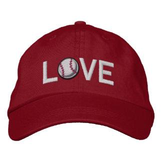 I Love Baseball Embroidered Hats