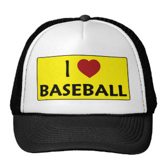 I Love Baseball Mesh Hat