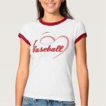 I Love Baseball Heart T-shirts