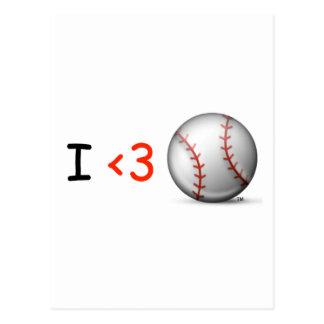 I love baseball postcard