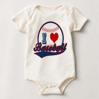 I love baseball print baby bodysuit