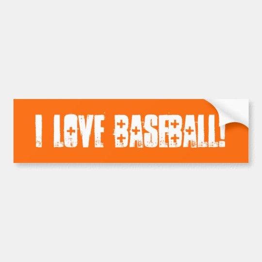 I Love Baseball Wall / Laptop / Car
