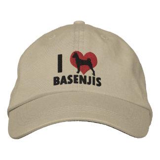 I Love Basenjis Embroidered Hat