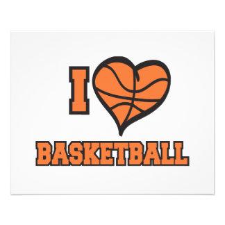 i love basketball 11.5 cm x 14 cm flyer