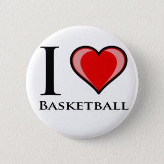 I Love Basketball 6 Cm Round Badge