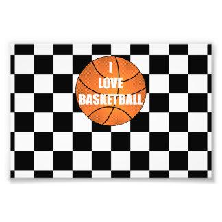 I love basketball black white checkers photo