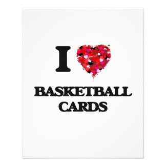 I Love Basketball Cards 11.5 Cm X 14 Cm Flyer