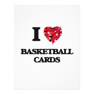 I Love Basketball Cards 21.5 Cm X 28 Cm Flyer