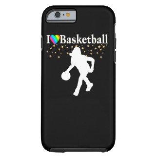 I LOVE BASKETBALL DESIGN TOUGH iPhone 6 CASE