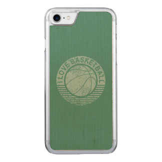 I love basketball grunge carved iPhone 7 case