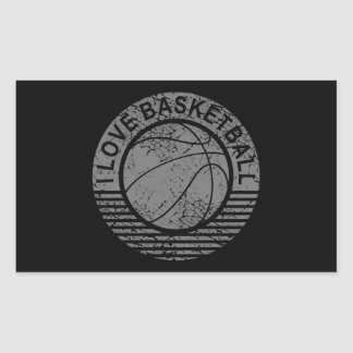 I love basketball grunge rectangular sticker