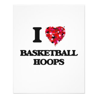 I love Basketball Hoops 11.5 Cm X 14 Cm Flyer
