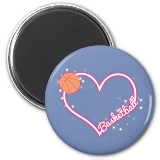 I Love Basketball Magnet Gift