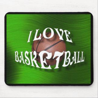 I LOVE BASKETBALL-MOUSEPAD MOUSE PAD