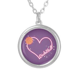 I Love Basketball Necklace