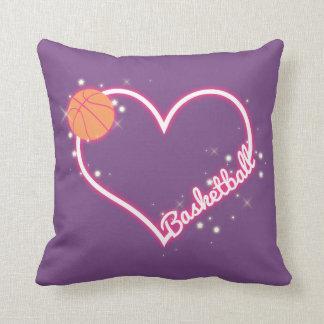 I Love Basketball Pillow Gift