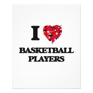 I love Basketball Players 11.5 Cm X 14 Cm Flyer