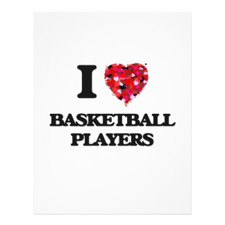 I Love Basketball Players 21.5 Cm X 28 Cm Flyer