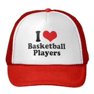 I Love Basketball Players Hats