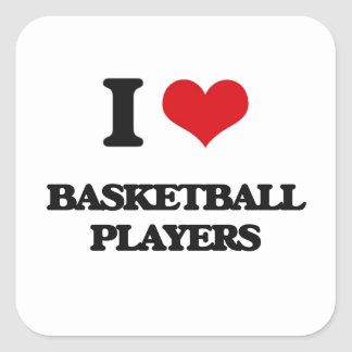I love Basketball Players Stickers