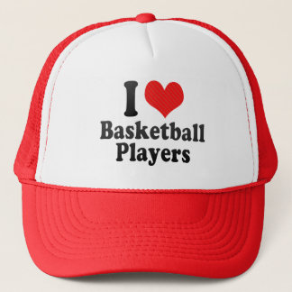 I Love Basketball Players Trucker Hat