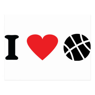 I love basketball postcard