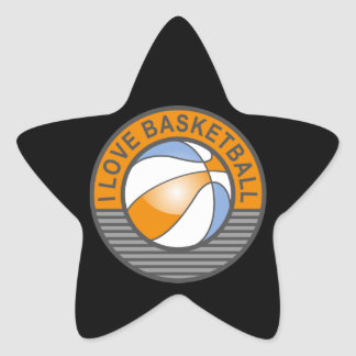 I love basketball star sticker